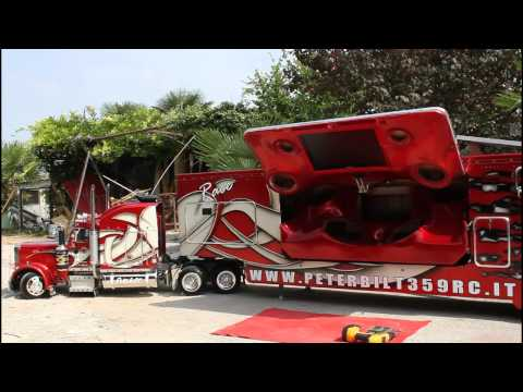 TruckModel Peterbilt 359 RC 1:4 Test Movement 1