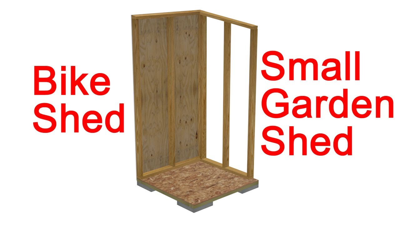 Small Garden Shed Or Bike Shed Construction Details - YouTube