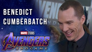 Benedict Cumberbatch on working with the Russo Brothers LIVE on the Avengers: Endgame Red Carpet