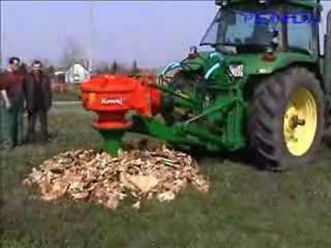 John Deere 8100 and Rotor S stump grinder Video