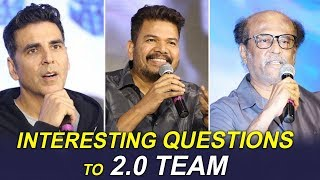 Media Asks Interesting Questions To 2.0 Team | Rajinikanth | Akshay Kumar | Shankar | FILMYLOOKS