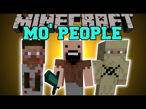 Minecraft: MO' PEOPLE (NOTCH, PSYCHOPATH, SUICIDE BOMBER,  &  MORE!) Mod Showcase