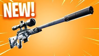 My FIRST REACTION TO SILENCED SNIPER RIFLE! FORTNITE LIVE STREAM! 1K SUB GOAL!
