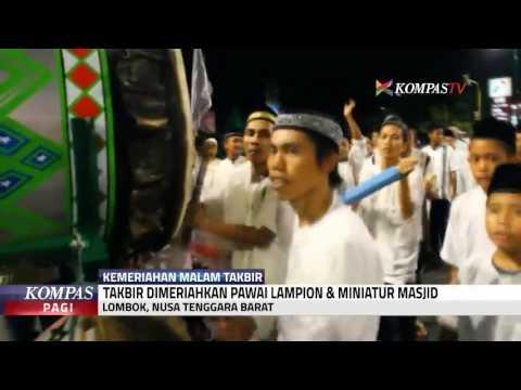 Pawai Lampion & Miniatur Masjid di Malam Takbir