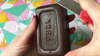 Сухое мыло Русь (шоколадного цвета с обалденным ароматом)   ASMR DRY Soap Carving (NO TALKING)