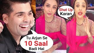 Karan Johar Makes Fun of Malaika Arora Khan Age Gap With Arjun Kapoor At India's Got Talent