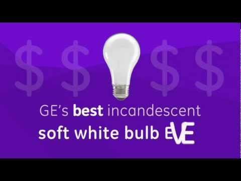 Incandescent Light Bulbs -- GE energy-efficient soft white bulbs