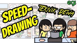 Speed Drawing: Teknik Masak Tingkat Dewa (also talking about Siapa inspirasi gue nge-Youtube?)