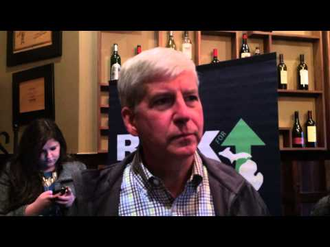 Rick Snyder talks about final days of the campaign