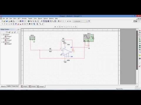 Simulation of Inverting Amplifier in Multisim