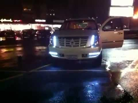 Car Led Headlights >> escalade with led lights and strobes - YouTube