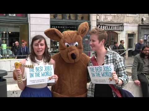 Latest News: There's a kangaroo spreading a message about Australia in Lisbon!