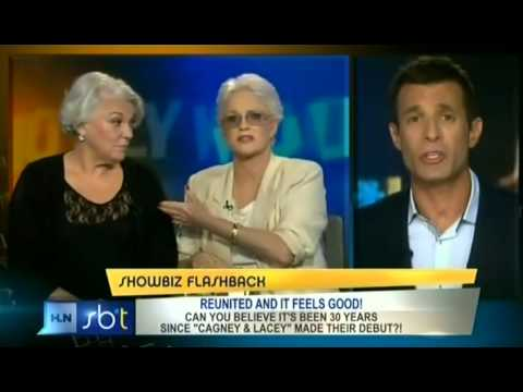 Cagney & Lacey on HLN's Showbiz Tonight with A.J. Hammer