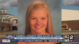 17-year-old girl killed in crash in Carroll County