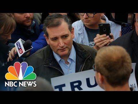 Ted Cruz Clashes With Donald Trump Supporter | NBC News