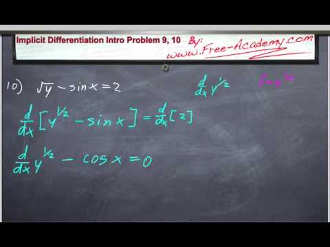 quotient rule differentiation. Free Calculus lecture presented by www.free-academy.com. This lecture practices solving derivatives using implicit differentiation.