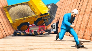 SURVIVE THE UNSTOPPABLE VEHICLE AVALANCHE! (GTA 5 Funny Moments)