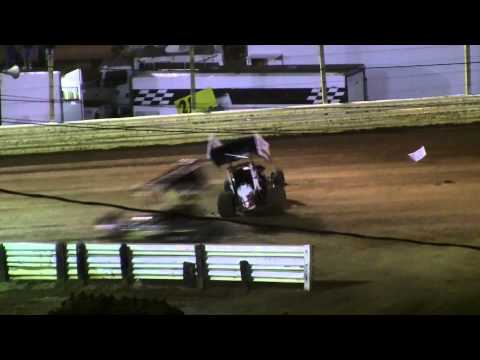 Lincoln Speedway 410, 358 Sprint Car and Super Sportsman Highlights(repaired) 8-30-14