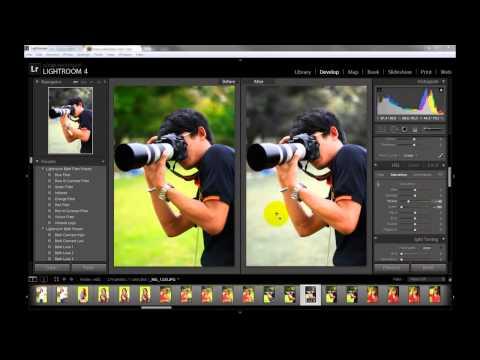 Lightroom 4 เทคนิคการแต่งภาพสีเฉพาะจุด