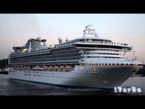 Трансокеанский круизный лайнер «Diamond Princess» покидает Владивосток