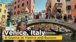 Venice and Burano, Italy at a glance
