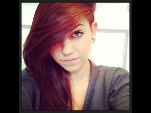 coloration rouge cheveux - Coloration Rouge Sur Cheveux Noir