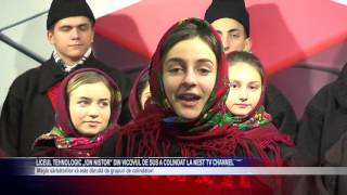 Liceul tehnologic Ion Nistor din Vicovul de Sus a colindat la NEst TV Channel