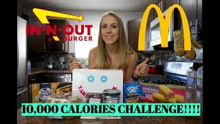 10K CALORIE CHALLENGE | GIRL VS FOOD | EPIC CHEAT DAY
