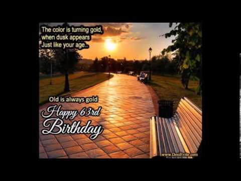 Happy 63rd Birthday Greetings card/E-card/Egreetings/Wishes