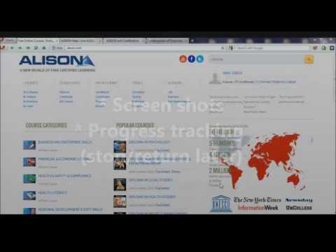 Video Tour of Alison: Free Certified Learning