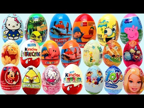 Surprise eggs Unboxing Toys Huevos Kinder Sorpresa egg by Unboxingsurpriseegg