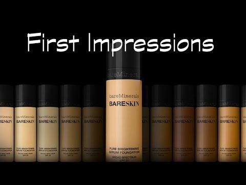 FIRST IMPRESSIONS   BARE MINERALS BARE SKIN LIQUID FOUNDATION   REVIEW & DEMO