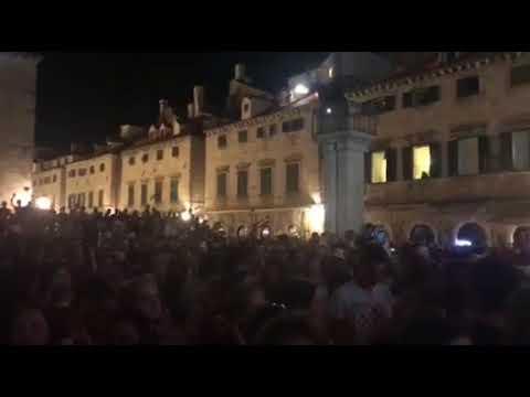 Dubrovnik Celebrates Croatia Making World Cup Final! thumbnail
