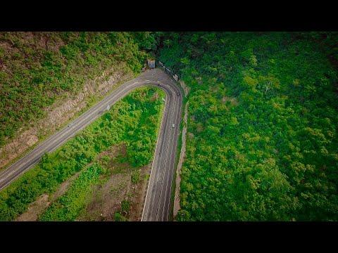 Descending the Aburi Mountain road with Dji's phantom 4