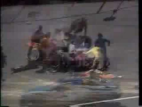 Michael Waltrip crash Bristol 1990 Video