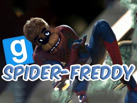 FREDDY FAZBEAR IS SPIDER-MAN (Garry's Mod Sandbox Funny Moments) w/Spider-Man Mod