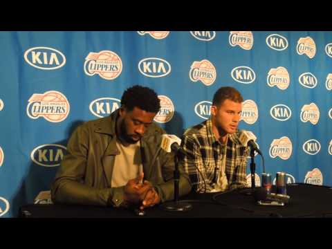 DeAndre Jordan and Blake Griffin Post game 1.22.15