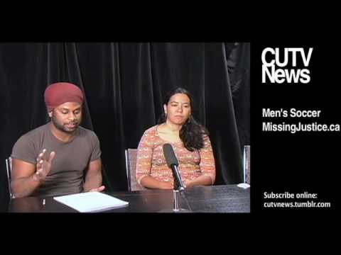 CUTV News of April 23 2010 Missing Justice and Canadian Men's Soccer Part 1 of 2