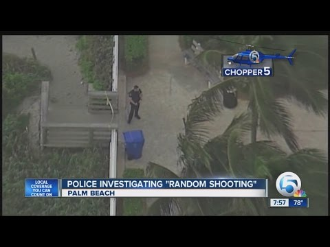 Palm Beach police investigate 'random shooting'