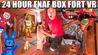 24 HOUR FNAF BOX FORT!! 📦😱 Scary Real Life Five Nights At Freddy's CHALLENGE (VR 180)