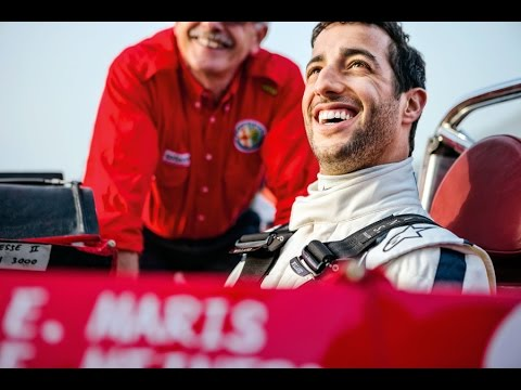 2015 Red Bull Daniel Ricciardo drives the Alfa Romeo Tipo 33 Sicily