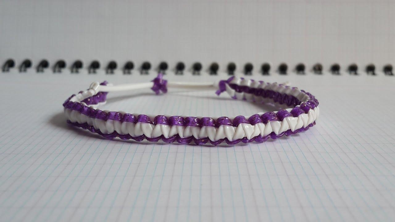 Bracelet macram en scoubidous youtube for Chaise en fil scoubidou