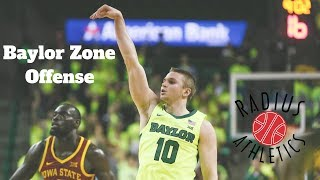 Baylor Bears Zone Offense - Inside Ball Screen