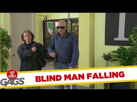 BLIND MAN FALLS IN ELEVATOR SHAFT PRANK!!!