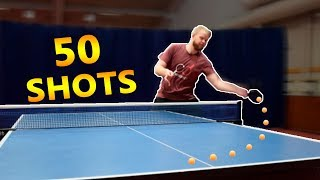 Play 50 Around the Net Shots I Challenge Pongfinity