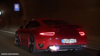 780HP Porsche 911 Turbo S Spitting HUGE Flames In Tunnel!