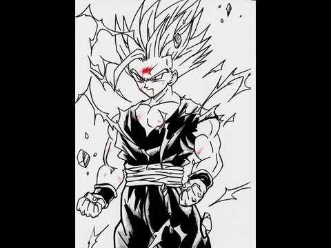 How To Draw Gohan Ss2 Full Body 超サイヤ人 ツー 孫悟飯 video
