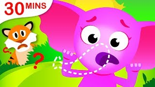 Where Is My Trunk? | Where Are My Stripes? | Did you See My Tail? Kids Songs by Little Angel