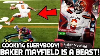 BAKER MAYFIELD COOKS EVERYBODY! NASTY HURDLE! Madden 19 Ultimate Team