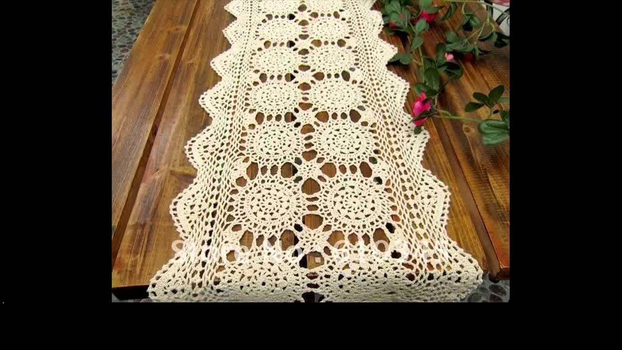 filet crochet tablecloth patterns - YouTube